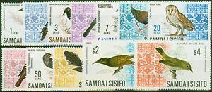 Samoa 1967-69 Birds Set of 12 SG280-289b Very Fine MNH
