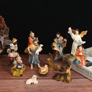 1Set Nativity Scene Set Christmas Baby Jesus Manger Church Catholic Decor Sta SX