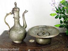 antik Kupfer Waschgarnitur Afghanistan antique copper Ewer Pitcher & Basin set C