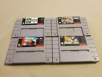 Lot of 4 Football Super Nintendo SNES Madden, Madden 94, NCAA, Super Play Action