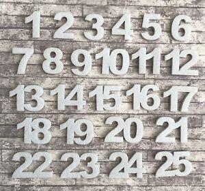Felt Advent Calendar Numbers White Christmas Self Adhesive Kit Embellishments UK
