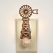 Windmill Night Light Rusty Colored