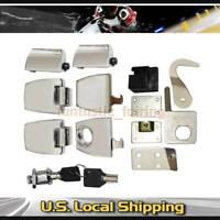 Premium Hardware Latches Hinges Lock Set fit for Harley Davidson Tour Pack 06-13