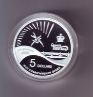 2006 $5 Silver Proof Coin Melbourne Commonwealth Games Queen's Baton Relay **