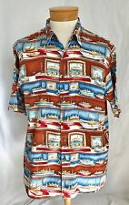 Reyn Spooner XL Hawaiian Shirt Boats Ships Sailboat Egyptian Cotton EUC