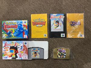 Nintendo N64 games bundle Aus Pal Zelda Majoras Pokémon Stadium 2 Snowboard Kids