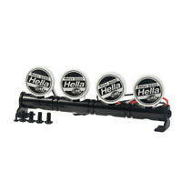 Round LED Light Bar Roof Lamp for 1/10 RC Crawler Axial SCX10 II D90 CC01 TRX4