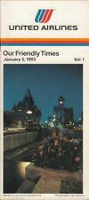 United Airlines system timetable 1/5/83 [308UA] Buy 4+ save 25%