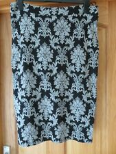NEXT BLACK GREY PATTERN PENCIL TUBE SKIRT SIZE 16- EXCELLENT CONDITION