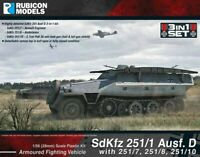 Rubicon Models - SdKfz 251/1 Ausf D 3-in-1 Set 1 1/56 (28mm) - Germany WWII
