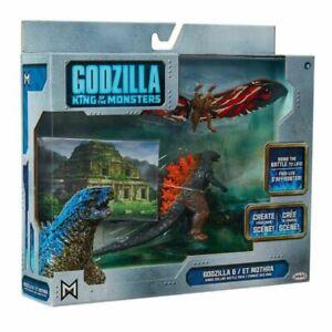 JAKKS Pacific Godzilla King of The Monsters Godzilla & Mothra Toy Figure Set