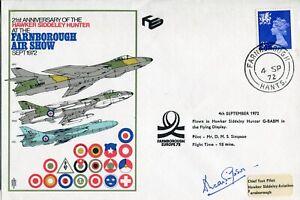 Hawker Hawk test pilot Duncan Simpson signed 1972 Farnborough FDC - UACC DEALER