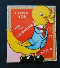 Vintage 1930's Valentine with Duck in Suit and Tie