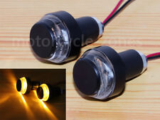 7/8 22mm Handlebar LED Turn Signal Light Bar Ends For Cafe Racer Bobber Chopper
