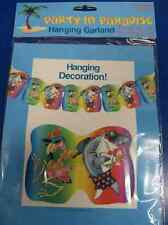Party in Paradise Shark Flamingo Luau Beach Party Decoration Hanging Garland
