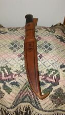 VINTAGE NOR MARK HUNTING KNIFE W/LEATHER SHEATH MADE IN FINLAND 1967