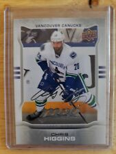 2014-15 Upper Deck MVP SILVER SCRIPT Chris Higgins Vancouver Canucks Card #158