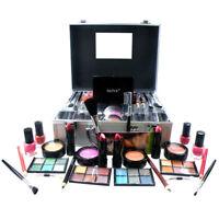 Large Vanity Case Beauty Box Make up Jewelry Cosmetic Storage Box Silver