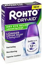 New Rohto Dry-Aid Dry Eye Relief Eye Drops 0.34 Fl. Oz.