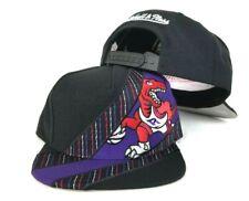 b0e351ee898 Mitchell & Ness Toronto Raptors Black / Purple Adjustable snapback Hat Cap