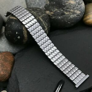 1950s Stainless Steel Expansion nos Foster USA Vintage Watch Band 16mm 18mm 19mm