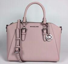 NWT Michael Kors Ciara Pink Blossom Leather Large Zip Satchel Handbag Bag New