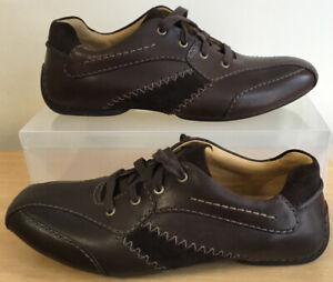 NEW Mens Clarks Active Air Waterproof Brown Leather Shoes UK Size 7G EU 41 BNWOB