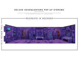 Deluxe HQ purple 1/12 Scale Pop-Up Diorama BY EXTREME-SETS INC new