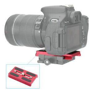 """CAMVATE Manfrotto Camera QR Plate w/ 1/4""""&3/8"""" Threads For Manfrotto 501 Tripod"""