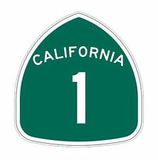 California Highway 1 scenic route 66 road vinyl decal bumper sticker car truck