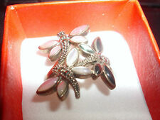 Marcasite Silver Ring Vintage Costume Jewellery