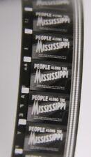 """Vintage 16mm Cine Film PEOPLE ALONG THE MISSISSIPPI 1/2 9"""" Reel [1286]"""