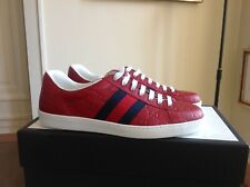 Gucci Ace Sneaker Gucci Signature 42,5 UK 8,5 red rot