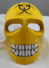 COOL Yellow Paintball Airsoft Full Face PC Lens Eye Protection Skull Mask PROP
