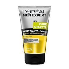 100mL LOREAL MEN PURE & MATTE DESERT CLAY YELLOW FOAM Face Wash Cleanser Fresh