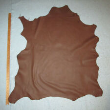 Big Chocolate Brown Garment Goatskin Leather Hide