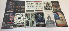 collection of 10 METAL GEAR SOLID video game ads