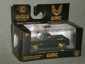 1/64th M2 Machines 1976 GMC Trans Am Square Body Truck Black