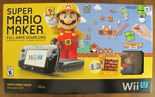 Nintendo Wii U Super Mario Maker Deluxe Set 32GB Hand Held System Console