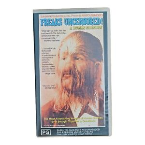 freaks uncensored VHS a human sideshow Ari Roussimoff 100 minute pinhead legless