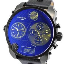 Diesel DZ7127 Gents Black Leather 59mm Stainless Steel Case Date Quartz Watch