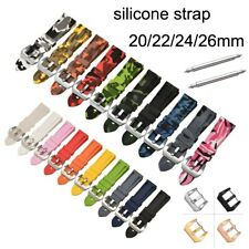 Sport Silicone Watch Band 20-26mm 22mm Soft Rubber Strap Watchband Camo Bracelet