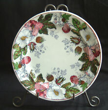 Staffordshire China Ironstone Cotton Plant Pattern Polychrome Decorated Plate