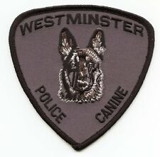 WESTMINSTER COLORADO CO Police Canine K-9 POLICE PATCH
