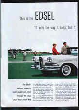 Edsel 1957 Citation 4-door Hardtop Auto 2 page Car ad
