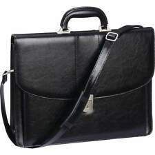 Black Professional Business Briefcase, Womens Attache Case Men Laptop School Bag