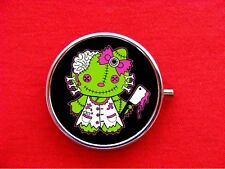 HELLO ZOMBIE KITTY CAT 2 ROUND METAL PILL MINT BOX CASE