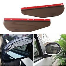 2pcs Universal Rear View Side Mirror Rain/Snow Shield For Car/Truck Smoke