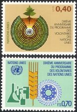 Nations Unies (G) 1981 programme des volontaires/Arbres/industrie/SCIENCE/CULTURES 2 V Set (n18057e)