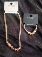 Next Rose Gold Necklace And Bracelet Set Rrp £20
